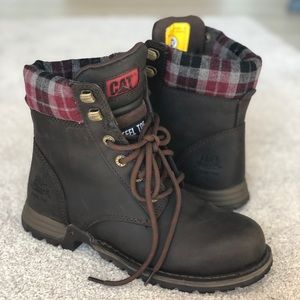 Caterpillar Steel Toe Boots size 6.5 Kenzie style